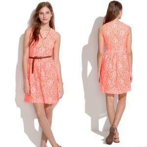 Madewell orange Blossom Lace Dress Size 12